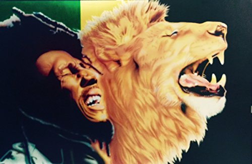 When The Lion Roars. Bob Marley Unframed - African American Black Art Print Wall