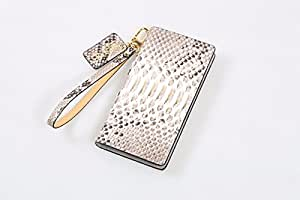 Python Leather Handmade Cell Phone Case for Samsung Galaxy Note 8 (Golden Python)
