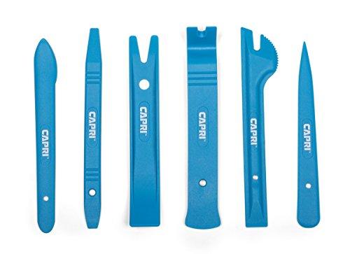 Capri Tools 21076 Auto Trim, Upholstery Panel Removal Set, Nylon, Blue, 6-Piece by Capri Tools