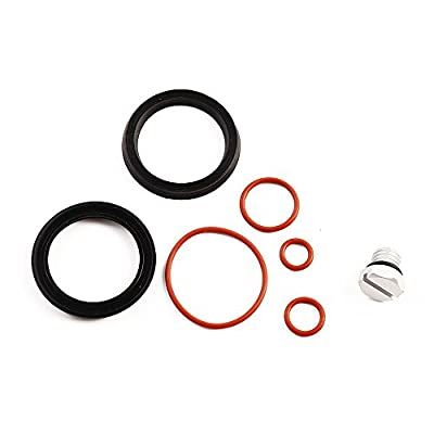 iFJF Fuel Filter Head Primer Seal Rebuild Kit and Air Bleeder Screw for 2001-2013 GM Duramax Fuel Filter Housing -Aluminum Screw(Silver): Automotive