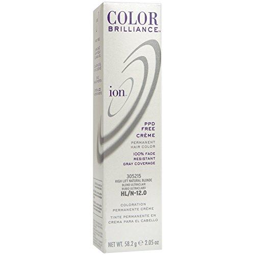 Ion HL-N Hi Lift Natural Blonde Permanent Creme Hair Color HL-N Hi Lift Natural Blonde
