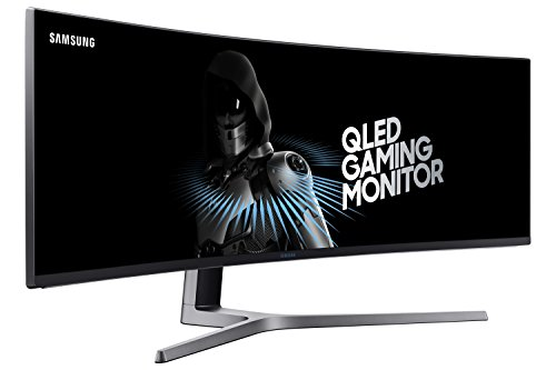 Samsung 49-Inch CHG90 144Hz Curved Gaming Monitor (LC49HG90DMNXZA) - Super Ultrawide Screen QLED Computer Monitor, 3840 x 1080p Resolution, 1ms Response, FreeSync 2 with HDR