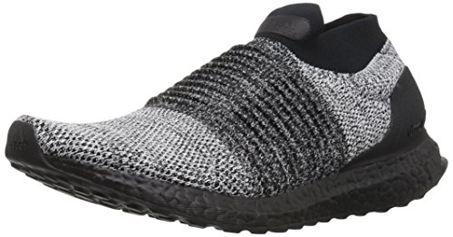 adidas Men's Ultraboost Laceless,black/black/white,7 M US