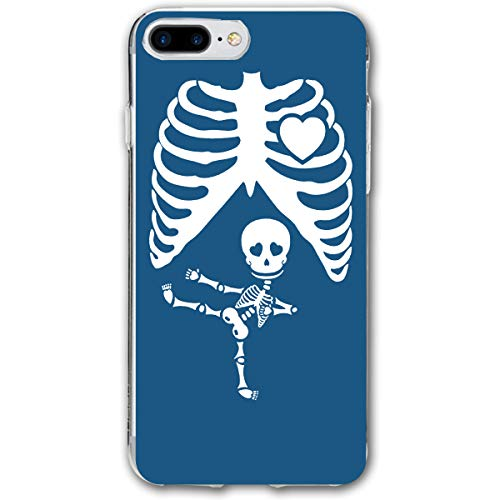 For IPhone 7 Plus Case, For IPhone 8 Plus Case, Halloween Pregnant Skeleton Ultra Thin Mobile Phone Cover Case Shell Shockproof Full-Body Protective Case Cover For IPhone 7 Plus /8 Plus 5.5