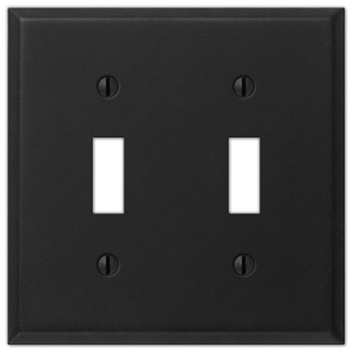 Black Iron Steel - 2 Toggle Wallplate Creative Accents Wall Plate