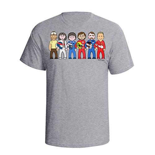 (vipwees Formula 1 Legends Mens Cult Motor Sport F1 car Caricature Gift t Shirt)