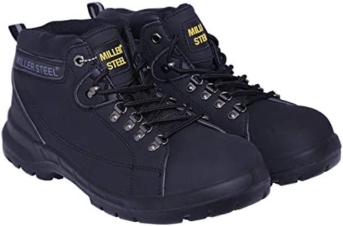 114423b9582 Miller Steel Black Safety Boot For Men: Amazon.com