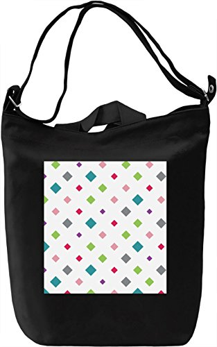 Geometrical Figures Print Borsa Giornaliera Canvas Canvas Day Bag| 100% Premium Cotton Canvas| DTG Printing|