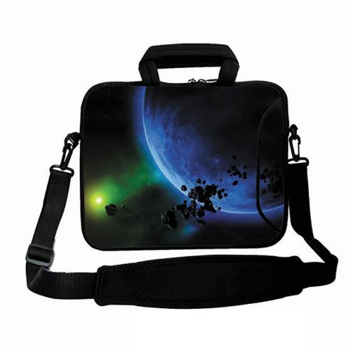 "Moon Flower 17.3"" 17.4""17 Neoprene Laptop Bag Case Sleeve w."