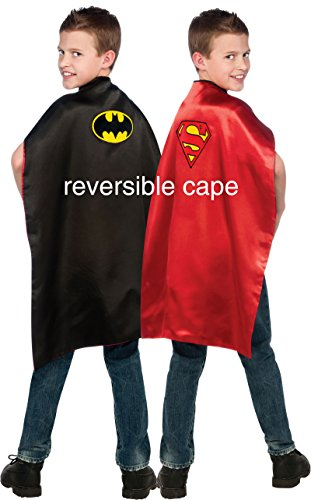 Endless Road 4870 Reversible Cape Batman Superman Boys Black/Red]()
