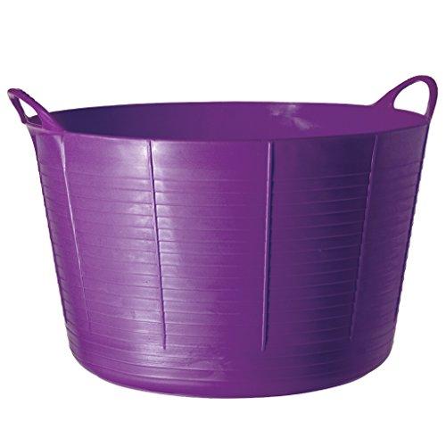 Round Tub Feeder (Tubtrugs SP75P X-Large Purple Flex Tub, 75 Liter)