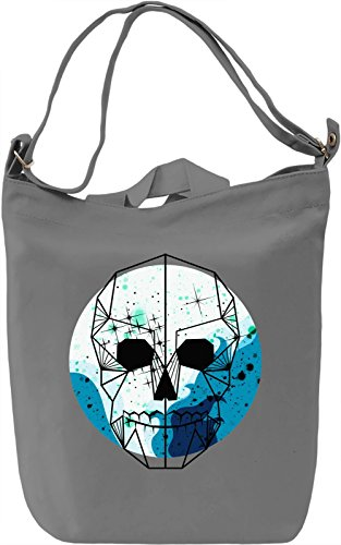 Galaxy Skull Borsa Giornaliera Canvas Canvas Day Bag| 100% Premium Cotton Canvas| DTG Printing|