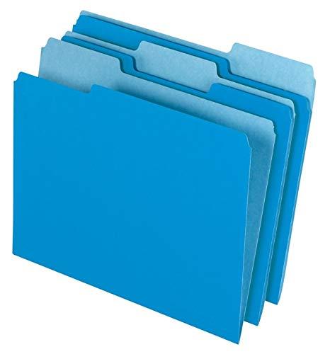 Single Cut 1/3 - Office Depot File Folders, Letter, 1/3 Cut, Blue, Box Of 100, 97661