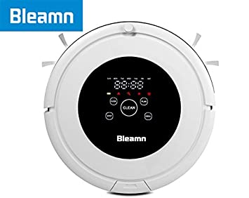 bleamn Protección contra caídas con mando a distancia Robot aspirador para casa perro Alfombra limpiador con pared Virtual, tiempo Plan Deslizar arqueadas: ...