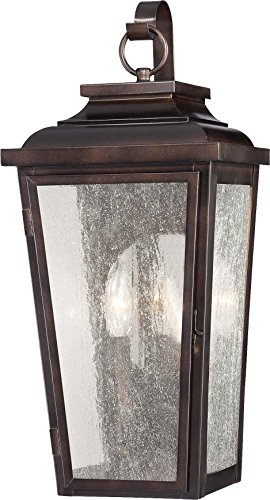 Minka Lavery Outdoor Wall Light 72170-189 Irvington Manor Aluminum Exterior Pocket Wall Lantern, 150 Watts, Bronze ()