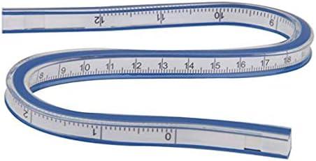 Gankmachine Curva Flexible Regla Helix Redacci/ón Dibujo Medir Herramienta de pl/ástico Blando Cinta m/étrica Regla 30cm