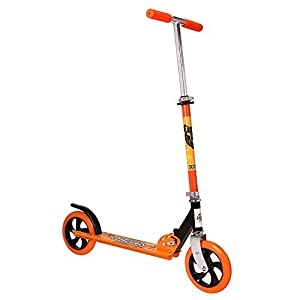 Kick Scooters, OUTAD Super-Tough Kids Stunt Folding Scooter with Adjustable Aluminum Alloy Handle T-Bar (4-12 years old Orange)