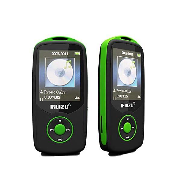 Bluetooth MP3 Music Player with 1.8 Inch Screen Sports MP3 Player Voice Recorder FM Radio Walkman 4GB,Green