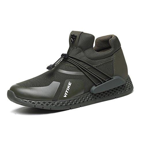 Elaphurus Uomo Scarpe da Ginnastica Corsa Sportive Fitness Sneakers Basse Interior Casual all'Aperto Verde