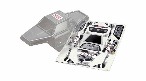 Micro Crawler Rock - Losi LOSB1565 Micro Rock Crawler Body, Clear with Stickers New