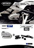 Artago 32S7 Anti-Theft Disc Lock with Alarm 120db High Range and Support for Honda CB650F and CBR650F, S.A.A Closure, SRA, Bunker Selection, Stainless Steel