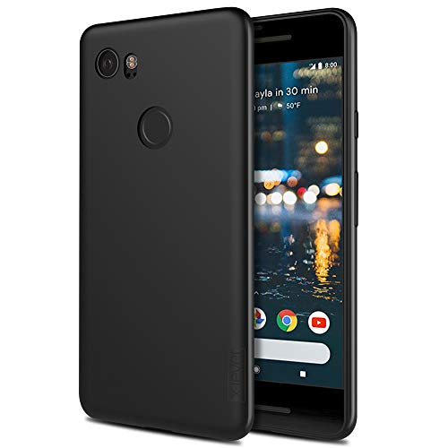 (Google Pixel 2 XL Case, X-Level Mobile Phone Case [Guardian Series] Soft TPU Matte Finish Slim Fit Ultra Thin Light Protective Cell Phone Back Cover for Google Pixel 2 XL(Black))