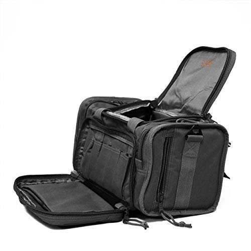 Osage River Tactical Shooting Gun Range Bag, Gunmetal Grey , Light Duty (13.5 x 10.5 x 7.5) Inches