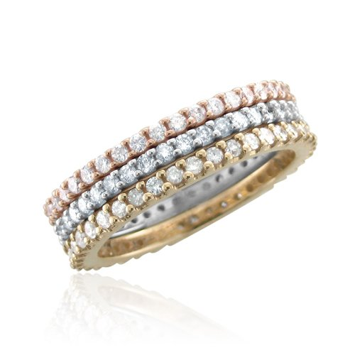 14k White Gold Diamond Eternity Band Ring (0.45 Carat), Size 6.5 by Diamond Delight (Image #6)