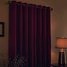 Best Home Fashion Thermal Insulated Blackout Curtains - Antique Bronze Grommet Top - Burgundy - 52\