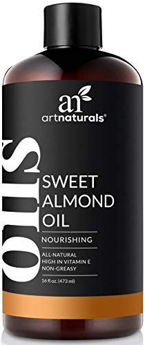 ArtNaturals Premium Sweet Almond Oil - (16 Fl Oz / 473ml) - 100% Natural & Pure - Therapeutic Grade Unrefined Carrier and Massage Oil - for Hair, Body and Skin or Diluting Aromatherapy Essential Oils