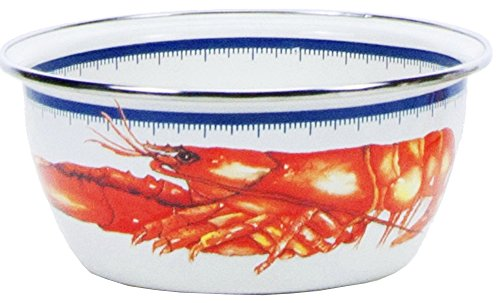 Enamelware - Lobster Pattern - 3 Cup Salad ()