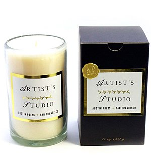 Sanctum Collection Artist's Studio Candle 14 oz by Austin - 14 Bee Oz Glass Candle