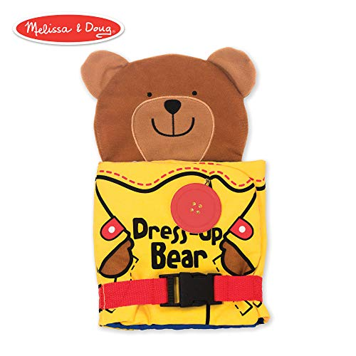 - Melissa & Doug Soft Activity Baby Book - Dress Up Bear