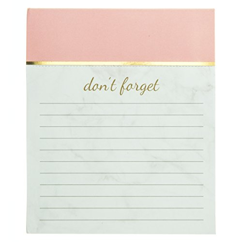 Graphique Blush Pink Jotter Notepad, Pad of Paper w/ 250 Tearable Ruled Pages, Elegant and Fun, Embellished with Gold Foil, Great for Kitchen Counters, Nightstands, Desks, and More, 4.5