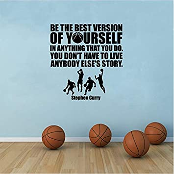 Vinilo Etiqueta de la pared de baloncesto Stephen Curry Cita ...