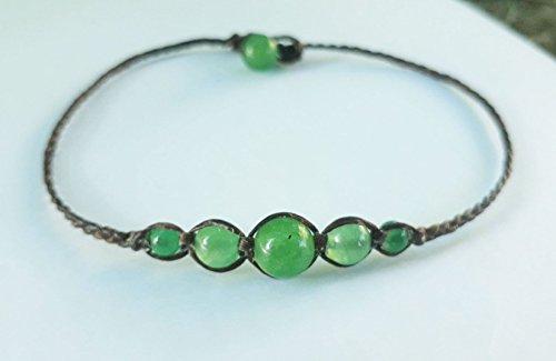 Jade anklets,stone anklets,men anklets,women anklets,beaded - Anklet Jade