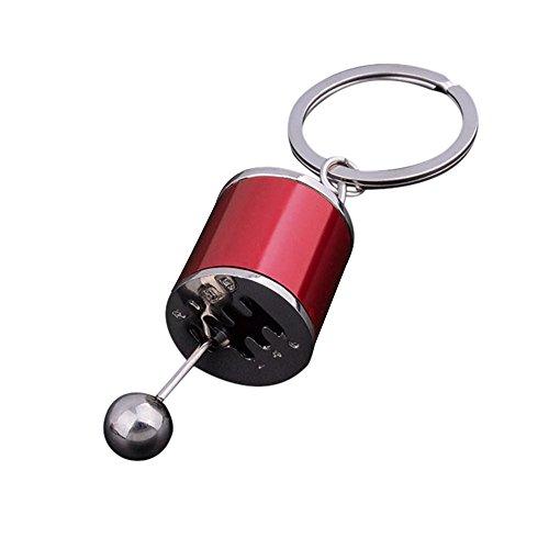 Orcbee  _Gear Knob Gear Shift Gear Stick Gear Box Metal Key Chain Keyfob Car Keyring Gift (Red)