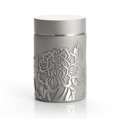 Royal Selangor Hand Finished Peony Collection Pewter Airtight Tea / Coffee Caddy by Royal Selangor