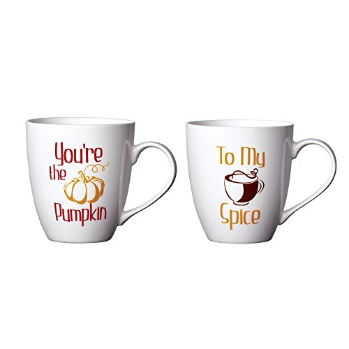 Pfaltzgraff Everyday Mug, You're The Pumpkin and To My Spice, 18-Ounce, Set Of 2 (Pumpkin Coffee Mug)