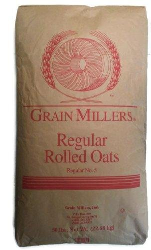 Grain Millers regular rolled oats, 50 pound bag, not available in (Regular Rolled Oats)