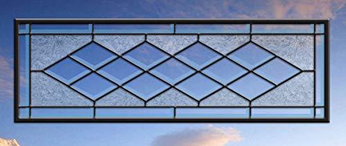 (Custom Beveled Diamond Stained Glass window)
