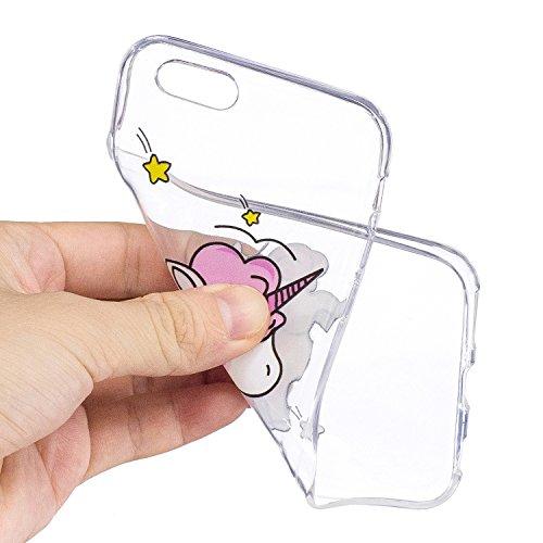 iPhone 6 6S Hülle Schüchternes Einhorn Premium Handy Tasche Schutz Transparent Schale Für Apple iPhone 6 6S + Zwei Geschenk