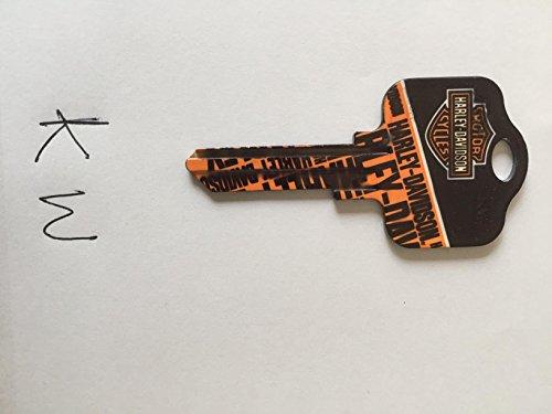 Harley-Davidson House Key--Kwikset KW1 # 66 Uncut BIG Blank House Key