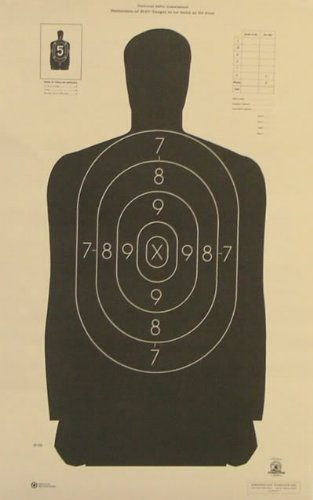 (20x) B-29 Shooting Target Official NRA Police Silhouette 14x22 by ()