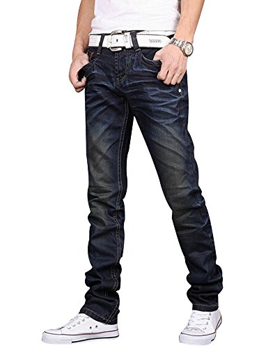 Boys Dark Blue Denim Jeans - 1