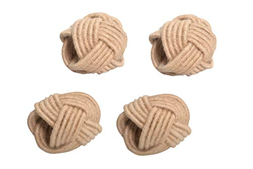 Alpha Living Home Classic Braided Jute Napkin Ring Dinning Table Parties Occasion Everyday Family Gatherings, complement for Dinner Table,Set of 4 - Natural Classic Home Braided Jute