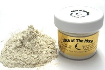 Iridescent Mica Powder, 1oz, Cream Gold Iridescencent Powder- Cosmetic Grade Mica - Slice of the Moon