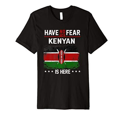 Kenya Flag Shirt Have No Fear Kenyan Pride Gift Premium T-Shirt - Fear No Jerseys Mens