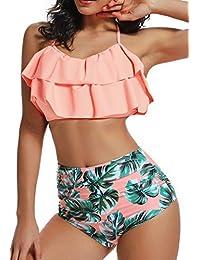 FITTOO Bikini Mujer Push-up con Acolchado Bra Trajes de baño Dos Piezas Color Vario con Talla Grande