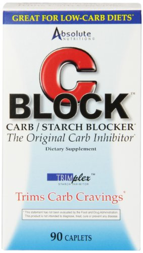 Absolute Nutrition CBLOCK Carb / Starch Blocker, 90 Pilules
